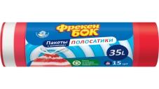 Пакети Фрекен Бок для смiття з затяжкою п/е  51х53 син-біл HD 35 л/15 шт – ІМ «Обжора»