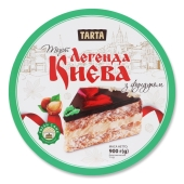 Торт з фундуком Легенда Києва Ла-Тарта 900 г – ІМ «Обжора»