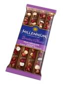 Шоколад Fruits&Nuts молочний мигдаль лісовий горіх журавлина родзинки Millennium 90 г – ІМ «Обжора»
