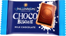 Шоколад  молочний з печивом Millennium Choco Biscuit 15 г – ІМ «Обжора»