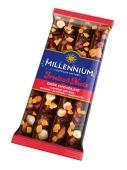 Шоколад Fruits&Nuts чорний мигдаль лісовий горіх цукати родзинки Millennium 90 г – ІМ «Обжора»