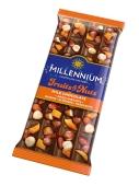 Шоколад Fruits&Nuts молочний мигдаль лісовий горіх курага родзинки Millennium 90 г – ІМ «Обжора»
