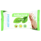 Серветки вологі `NATURELLE` antibacterial, подорожник, 15 шт – ІМ «Обжора»