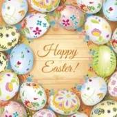 Серветки паперові Великодні Кошик з яйцями 33*33 3 шари Silken – ІМ «Обжора»