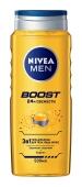 Гель для душу Boost 3в1 Nivea men 500 мл – ІМ «Обжора»