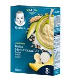 Каша Мультизлакова молочка йогурт банан груша 8 міс Gerber 240 г – ІМ «Обжора»