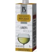 Вино бiле н/сол т/пак Мускат Царський Винлюкс 1 л – ІМ «Обжора»