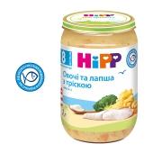 Пюре Овочі та локшина з тріскою з 8 місяців Hipp 220 г – ІМ «Обжора»