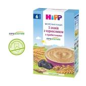 Каша  молочна 5 злаків з чорносливом та пребіотиками з 6 місяців Hipp 250 г – ІМ «Обжора»
