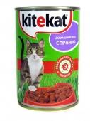 Корм Китикет (Kitekat) с печенью/уткой 410 г – ИМ «Обжора»