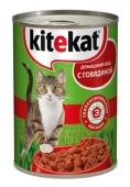 Корм Китикет (Kitekat) с говядиной 410 г – ИМ «Обжора»