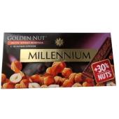 Шоколад Миллениум (Millennium) Gold черный с цельным орехом, 100 г – ІМ «Обжора»
