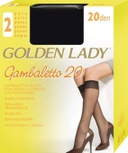 Гольфы Голден Леди (GOLDEN LADY) gambaletto 20 unica nero – ИМ «Обжора»