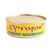 Паштет Хуторок говяжий 250 гр. – ИМ «Обжора»