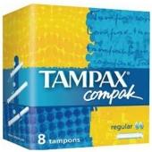 Тампоны  Тампакс (TAMPAX) компак регуляр с пластиковым апликатором 8шт – ИМ «Обжора»