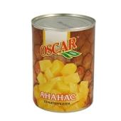 Ананасы Оскар (Oscar) кусочки 580 г – ИМ «Обжора»