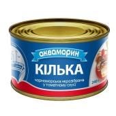 Килька в томатном соусе  неразделанная  N5 Аквамарин 240 гр. – ИМ «Обжора»
