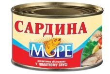 Сардина обжаренная в томатном соусе N5 Море  230г – ИМ «Обжора»
