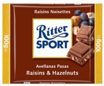 Шоколад Риттер орех-изюм 100 г – ИМ «Обжора»