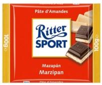 Шоколад Риттер спорт (Ritter Sport) марципан 100 г – ИМ «Обжора»