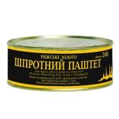Консервы Шпротный паштет Рижское золото 240 гр. – ИМ «Обжора»