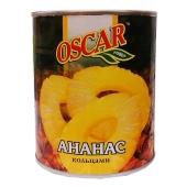 Ананасы Оскар (Oscar) кольца 850 г – ИМ «Обжора»