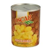Ананасы Оскар (Oscar) кусочки 850 г – ИМ «Обжора»