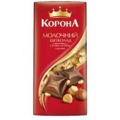 Шоколад Корона молочный с целым орехом 100 г – ИМ «Обжора»