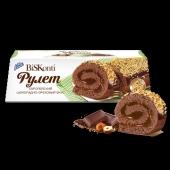 Рулет Конти (Konti) шоколадно-ореховый 220 г – ИМ «Обжора»