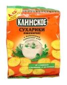 Сухарики Клинское пшеничные Сметана/зелень 100 г – ИМ «Обжора»
