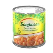 Консерва Бондюэль (Bonduelle) фасоль белая в томатном соусе 430 г – ИМ «Обжора»