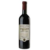 Вино грузинское Заря Кахети Алазанская долина красное п/сл. 0,75 л – ИМ «Обжора»