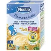 Каша Нестле (Nestle) 5 злаков с липовым цветом 200 г – ИМ «Обжора»