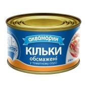 Килька обжаренная в томатном соусе  Аквамарин 240 гр. – ИМ «Обжора»