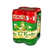 Пиво Львовское 1715 Акция 3+1 0.5 л – ИМ «Обжора»