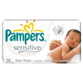 Салфетки Памперс (PAMPERS) влажные детские Sensitive 56 шт. – ИМ «Обжора»