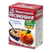 С/З Каша Овсянушка (5*45 гр.) персик+сливки – ИМ «Обжора»