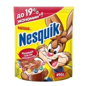 Какао Несквик Шоколад - молоко 450 г – ИМ «Обжора»