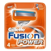 Картридж Джилет (GILLETTE) FUSION POWER 4 шт. – ИМ «Обжора»