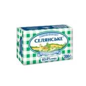 Масло Селянское 63% бутербродное 200 гр. – ИМ «Обжора»