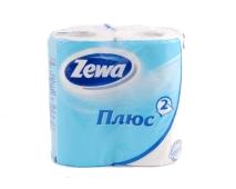 Туалетная бумага Зева (ZEWA) Плюс голубая 4 шт. – ИМ «Обжора»