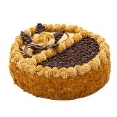 Торт Мариам Медовый со взбитыми сливками и грильяжем 600 г – ИМ «Обжора»