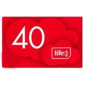 Карточка ЛайфСелл 40 грн – ИМ «Обжора»