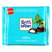 Шоколад Риттер спорт (Ritter Sport) мятный 100 г – ИМ «Обжора»
