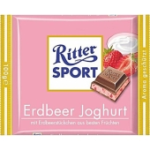 Шоколад Риттер спорт (Ritter Sport) молочный шоколад клубника/йогурт 100г – ИМ «Обжора»