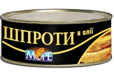 """Шпроты в масле """"Море"""", 150 г – ИМ «Обжора»"""