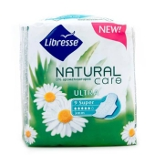 Прокладки Либрес (Libresse) Natural Care Ultra Super 9 шт. – ИМ «Обжора»