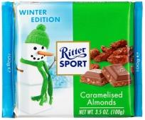 Шоколад Риттер карамелизированный миндаль 100 г – ИМ «Обжора»