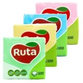 Салфетки Рута (Ruta) цветные 100 шт. – ІМ «Обжора»