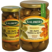 Оливки Калимера (KALIMERA) фаршированные целым миндалем 260 гр. – ИМ «Обжора»